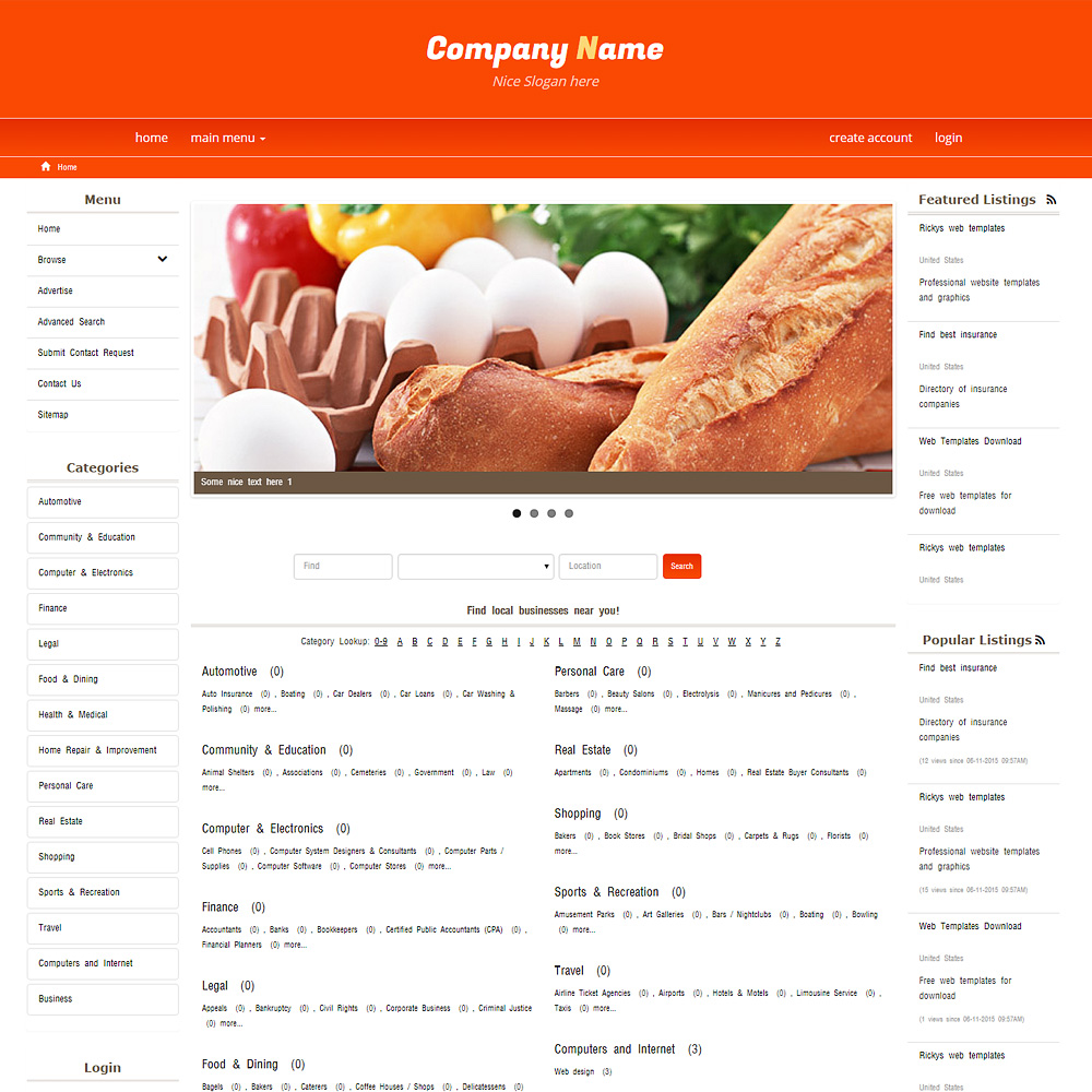 Free Website Templates - Template PMD 0003