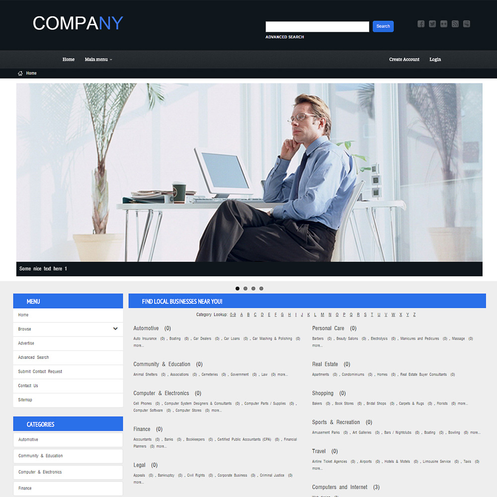 Free Website Templates - Template PMD 0005