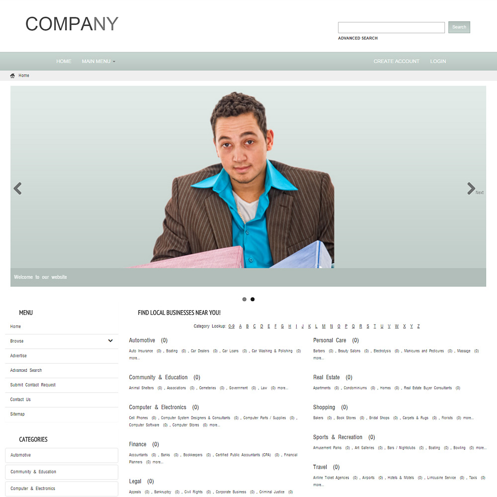 Free Website Templates - Template PMD 0008
